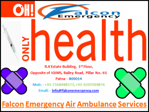 Falcon Emergency Air Ambulance Services from Patna in Medical Emergency